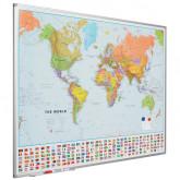Harta lumii (politica) 90 x 120 cm, profil aluminiu SL, SMIT
