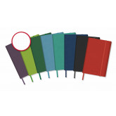 Caiet cu elastic, coperti rigide,  95 x 145mm, 96 file-80g/mp, hartie cream, AURORA -velin cu puncte