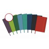 Caiet cu elastic, coperti rigide, 140 x 215mm, 96 file-80g/mp, hartie cream, AURORA -velin cu puncte