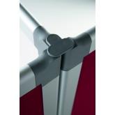 Conector triplu din plastic pentru pereti despartitori SMIT