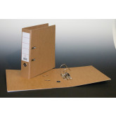 Biblioraft A4, margine metalica, 80mm, AURORA - carton reciclat