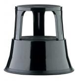 Taburet metalic cu rotile, pentru rafturi inalte, ALCO - negru