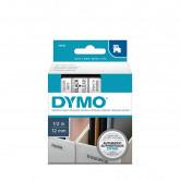 Banda Dymo D1,12mm x 7m,negru/transparent (45010)