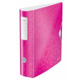 Biblioraft Leitz 180 Active WOW, polyfoam, A4, 82 mm, roz