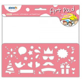 "Bloc desen autoadeziv 254 x 305mm, 24 file/set, Stick""n Art Pad - festival"