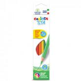 Creioane colorate, hexagonale,  6 culori/cutie, CARIOCA Tita