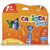 Carioca super lavabila,  6 culori/cutie, CARIOCA Baby Teddy 1+