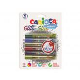 Lipici Glitter, lavabil, 6 culori/blister, CARIOCA Glitter Glue Mix