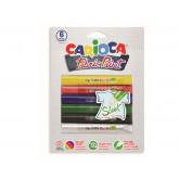 Vopsea textile 6 culori/blister, CARIOCA Fabric Paint - Sleek