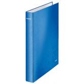 Caiet mecanic LEITZ WOW, carton laminat, A4, mecanism 4DR, inel 25 mm, albastru