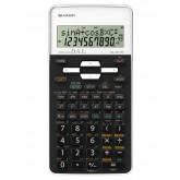 Calculator stiintific, 10 digits, 273 functii, 161x80x15mm, dual power, SHARP EL-531THWH-negru/alb