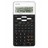 Calculator stiintific, 12 digits, 273 functiuni, 161x80x15 mm, SHARP EL-531THBWH - negru/alb