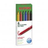 Carioca lavabila,  6 culori/cutie, ALPINO Standard - culori clasice