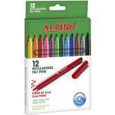 Carioca lavabila, 12 culori/cutie, ALPINO Standard - culori clasice