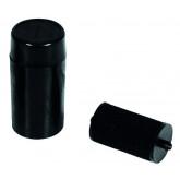Cartus cu cerneala, pentru aparat de etichetat cu 1 rand, diametru 18mm, Q-Connect - negru