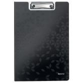 Clipboard LEITZ WOW, dublu, polyfoam, A4, 100 coli, negru