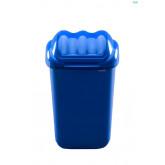 Cos plastic cu capac batant, pentru reciclare selectiva, capacitate 30l, PLAFOR Fala - albastru