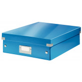 Cutie depozitare LEITZ WOW Click & Store Organizer, carton laminat, medie, albastru