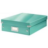 Cutie depozitare LEITZ WOW Click & Store Organizer, carton laminat, medie, turcoaz