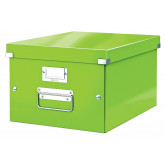 Cutie depozitare LEITZ WOW Click & Store, carton laminat, medie, verde