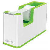 Dispenser banda adeziva LEITZ WOW, PS, banda inclusa, culori duale, alb-verde