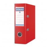 Biblioraft A5, plastifiat PP, margine metalica, 75 mm, DONAU - rosu