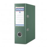 Biblioraft A5, plastifiat PP, margine metalica, 75 mm, DONAU - verde