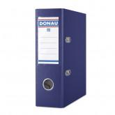 Biblioraft A5, plastifiat PP, margine metalica, 75 mm, DONAU - bleumarin
