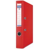 Biblioraft A4, plastifiat PP/PP, margine metalica, 50 mm, DONAU Premium - rosu