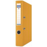 Biblioraft A4, plastifiat PP/PP, margine metalica, 50 mm, DONAU Premium - orange