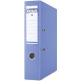 Biblioraft A4, plastifiat PP/PP, margine metalica, 75 mm, Donau Premium - albastru