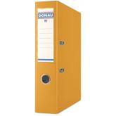 Biblioraft A4, plastifiat PP/PP, margine metalica, 75 mm, Donau Premium - orange