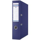 Biblioraft A4, plastifiat PP/PP, margine metalica, 75 mm, DONAU Premium - bleumarin