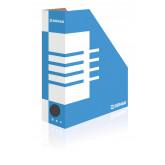 Suport vertical pentru cataloage, A4 -  10cm latime, din carton, DONAU - albastru