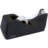 Dispenser de birou, pentru banda adeziva max.19mm latime, cu nisip, DONAU - negru