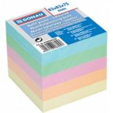 Rezerva cub hartie 83x83x75mm, DONAU - hartie culori pastel asortate