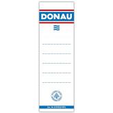 Etichete albe pentru biblioraft  75 mm , dubla fata, 20/set, DONAU