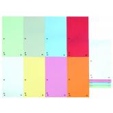 Separatoare carton pentru biblioraft, 190 g/mp, 105 x 235mm, 100/set, DONAU Duo - asortate