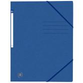 Dosar A4, carton MultiStrat 390g/mp, cu elastic, OXFORD Top File - albastru