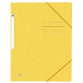 Dosar A4, carton MultiStrat 390g/mp, cu elastic, OXFORD Top File - galben