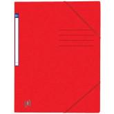 Dosar A4, carton MultiStrat 390g/mp, cu elastic, OXFORD Top File - rosu