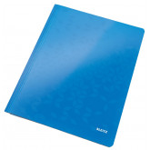 Dosar cu sina LEITZ WOW, carton laminat, A4, 250 coli, albastru