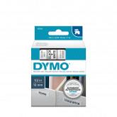 Banda Dymo D1 ( 12 mm x 7 m ) text:negru/ fond:alb(45013)