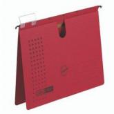 Dosar suspendabil cu sina, carton 230g/mp, bagheta metalica, ELBA Chic - rosu