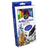 Liner ARTLINE Supreme, varf fetru 0.4mm, 10 culori/set