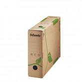 Cutie depozitare si arhivare ESSELTE Eco, carton, 80 mm, natur