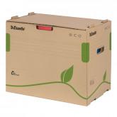 Container arhivare si transport ESSELTE Eco, pentru bibliorafturi, carton, natur