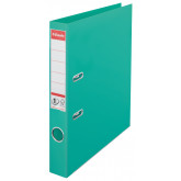 Biblioraft ESSELTE No. 1 Power, A4, plastifiat PP/PP, margine metalica, 50 mm - menta