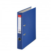 Biblioraft ESSELTE Economy, A4, plastifiat PP, margine metalica, 50 mm - albastru