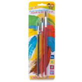 Set 3 pensule/blister (nr.4-6-10), GIMBOO - culori asortate